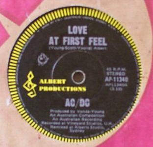 Love at First Feel 1977 single by AC/DC