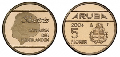 2004 5 Florin Coin Slightly Smaller Than The 1