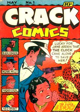 Crack Comics #1 (May, 1940); Jane Arden with The Clock Crack Comics 1.jpg