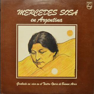 <i>Mercedes Sosa en Argentina</i> 1982 live album by Mercedes Sosa