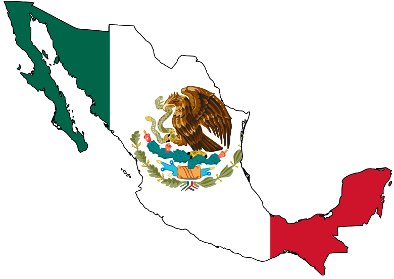 filemexico map with flagpng