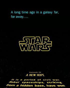 Thus, the Star Wars opening text, though originating galaxies away,