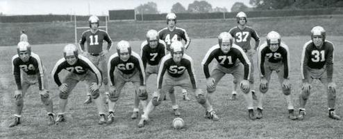 5692534a9 1943 Steagles starting line-up. Back row (left to right)  unknown