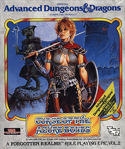 <i>Curse of the Azure Bonds</i> 1989 role-playing computer game