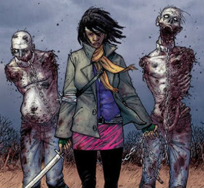 Yürüyen Ölüler Çizgi Romanında ki Michonne