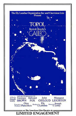 Poster for the American Film Theatre release of Galileo (1974–75)