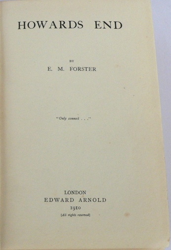 Howards End, E. M. Forster - Essay