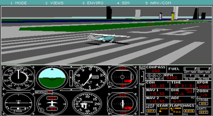 FS 4.0 – Now with dynamic scenery, more detailed roads, bridges, and buildings. Allowed users to design their own aircraft.