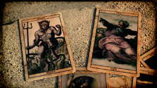 One frame of Carnivàle's opening title sequence Carnivale Tarot Cards in Opening Title Sequence.jpg