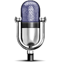 Iconic microphone image based on the design of the RCA Type 77-A microphone