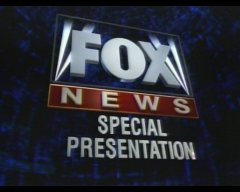 Fox News Special Presentation title card for Fox News coverage on Fox.