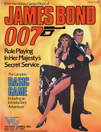Cover of the James Bond 007 role-playing game rules