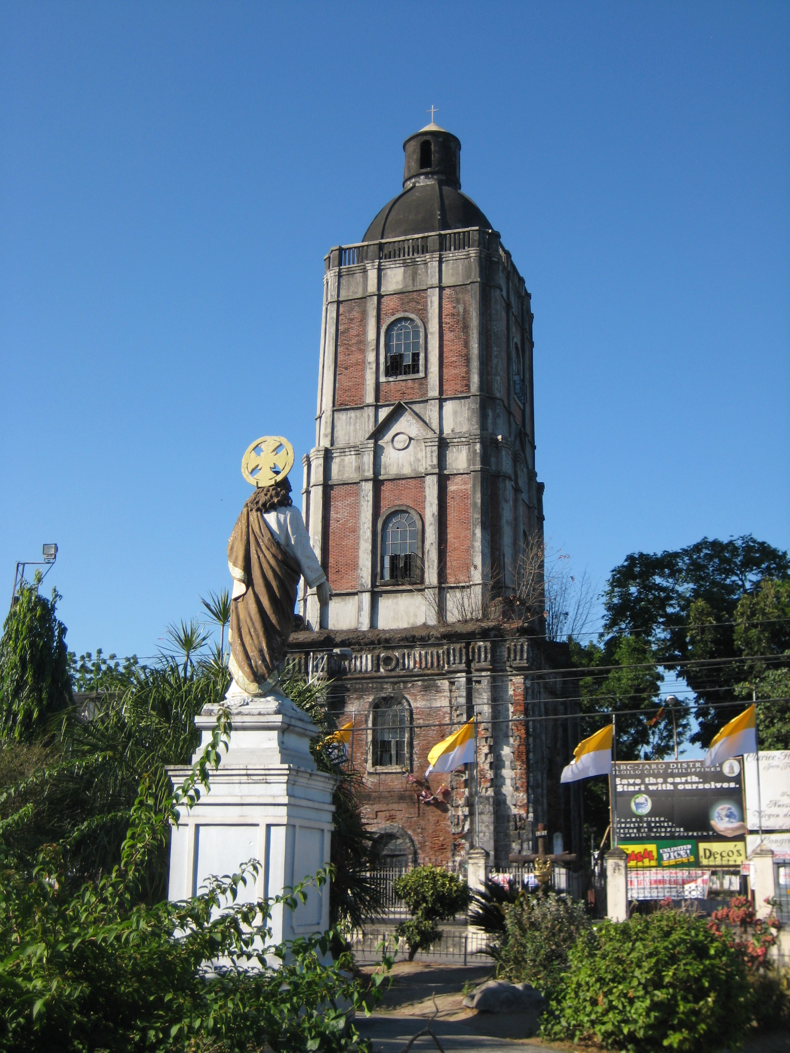 One of the few free standing bell towers in the Philippine islands.