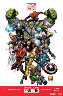 Promotional image for Marvel NOW!. Art by Joe Quesada.