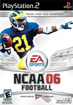 Howard on the cover of NCAA Football 06
