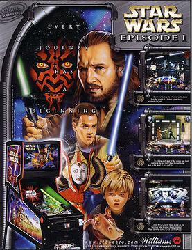 Star Wars Pinball Machine >> Star Wars Episode I (pinball) - Wikipedia