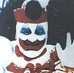 "Gacy as ""Pogo The Clown""."