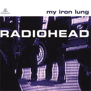Imagem da capa da música My Iron Lung de Radiohead
