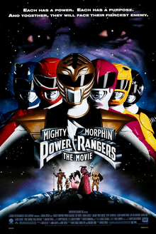 Mighty Morphin Power Rangers The Movie Poster