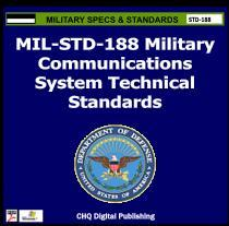 Cover of CHQ's commercial reprint of the MIL-STD-188 Military Standards series