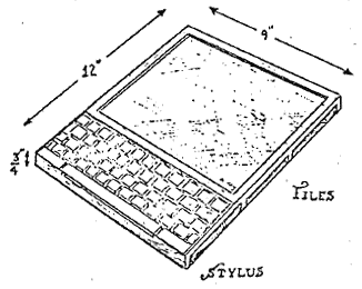 Alan Kay's Dynabook. Image courtesy of Wikipedia.