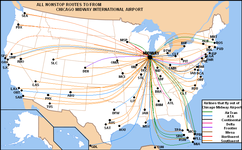 File:KMDW Route Map.PNG - Wikipedia on air new zealand route map, air canada route map, frontier airlines destination map, mesa gateway flight map, allegiant air route map, mesa airlines destination map, mesa airlines route map, american trans air route map, oklahoma air route map, republic air route map, reno air route map, mesa airlines crj-900, air jamaica route map, delta air lines route map, korean air route map, island air route map, alaska air route map, allegiant flight map, allegiant airlines destinations map,