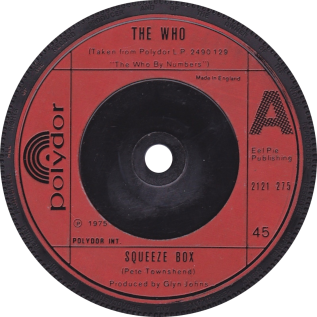 Squeeze Box (song) 1975 single by The Who
