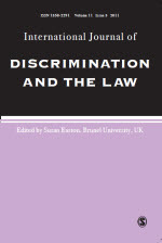 International Journal of Discrimination and the Law Journal Front