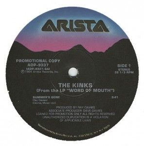 Summers Gone 1985 single by The Kinks