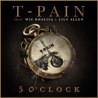 T-Pain featuring Wiz Khalifa and Lily Allen — 5 O'Clock (studio acapella)