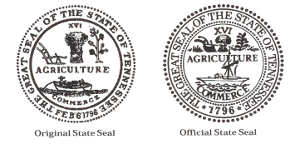 The Original and Current Great Seal of Tennessee in comparison