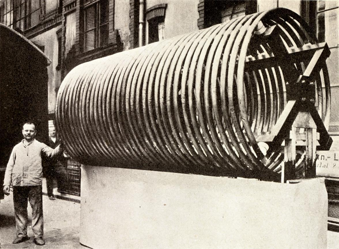 Loading Coil Wikipedia Capacitor For Carrier Ac Wiring Diagram Free Picture An Enormous Antenna Used In A Powerful Longwave Radiotelegraph Station New Jersey 1912