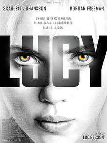 Poster for 2014 sci-fi thriller Lucy