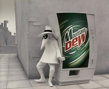 White Spy as seen in a 2004 Mountain Dew television commercial. Mountain Dew Spies.jpg