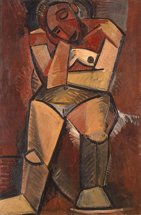 file pablo picasso seated w oil on canvas x cm  file pablo picasso 1908 seated w oil on canvas 150 x