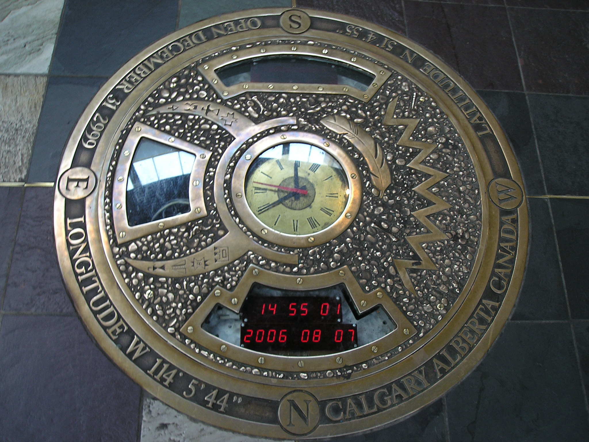 Time Capsule`s cover plate at the 4-storey rotunda