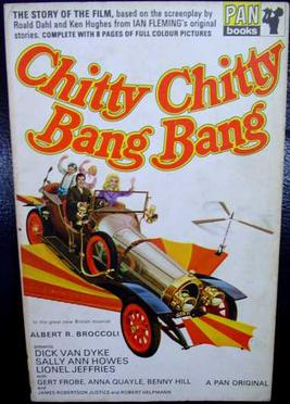 Novelization of the film by John Burke, published by Pan Books Chitty bang.JPG