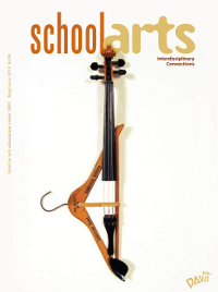 photo of the magazine cover showing a violin neck with a coat hanger on top of it