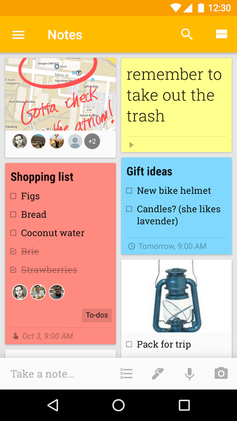 Android version of Google Keep