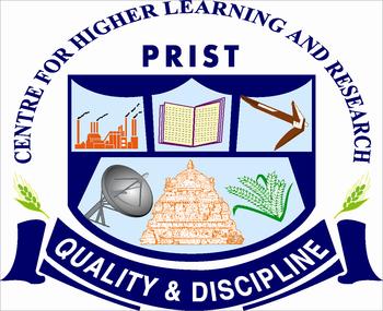 Image result for PRIST University, Vallam, Thanjavur logo