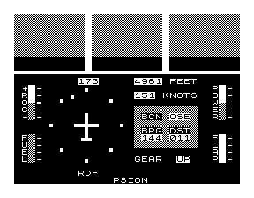 Main viewing screen on ZX81 version