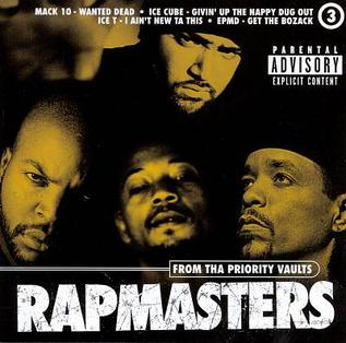 <i>Rapmasters: From Tha Priority Vaults, Vol. 3</i> 1996 compilation album by Various Artists