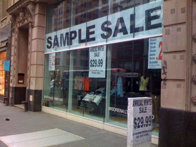 sample sale wikipedia