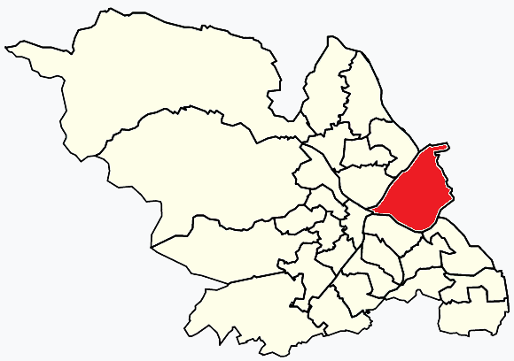 Darnall Sheffield, map