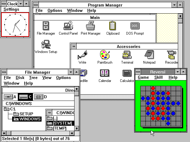 Windows 3.0 asztal
