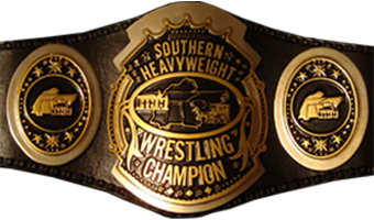One of the belts used to represent the championship