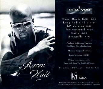 AARON HALL - I MISS YOU - YouTube