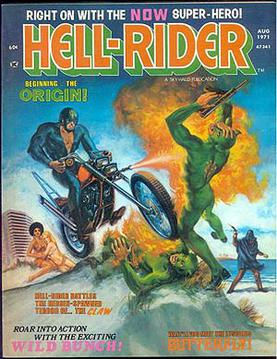 Hell-Rider #1 (Aug. 1971). Painted cover by Harry Rosenbaum.