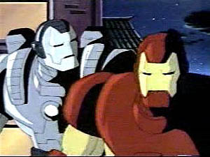 Iron Man and War Machine in a 1995 episode (en...