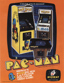 <i>Pac-Man</i> 1980 video game made by Namco Ltd.
